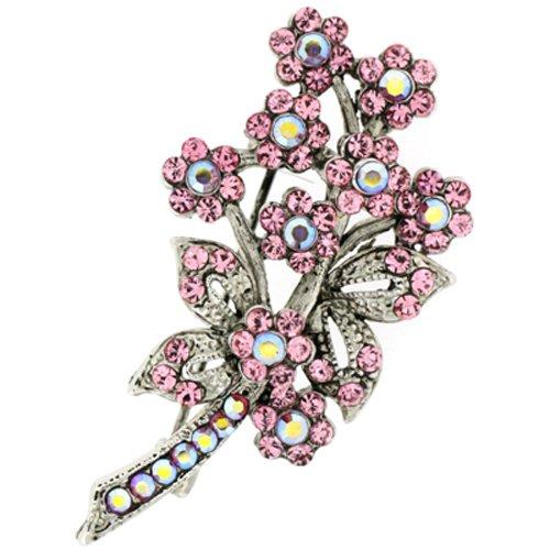 Swarovski Light Rose Crystal Bouquet Brooch