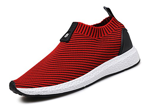 Sneakers on Red Socks Shoes No Lightweight Men's Flyknit Slip Running Town 66 xFxfwqgv4