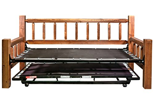 Montana Woodworks Homestead Collection Day Bed with Pop Up Trundle Bed, Stain and Lacquer Finish