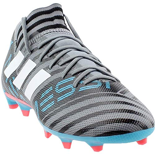 brand new 7891c fa0ba Galleon - Adidas Men s Nemeziz Messi 17.3 FG Soccer Shoe, Grey White Core  Black, 8.5 M US
