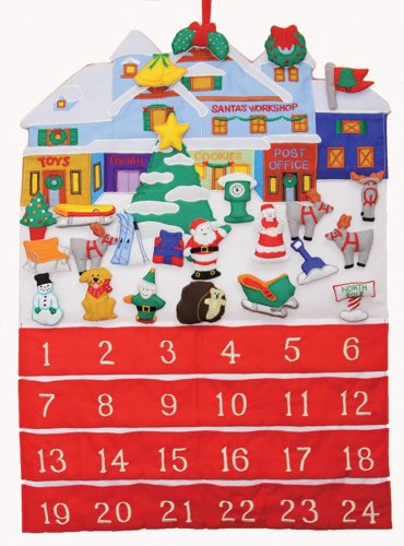 Santa's Workshop Fabric Advent Calendar (Countdown to Christmas)