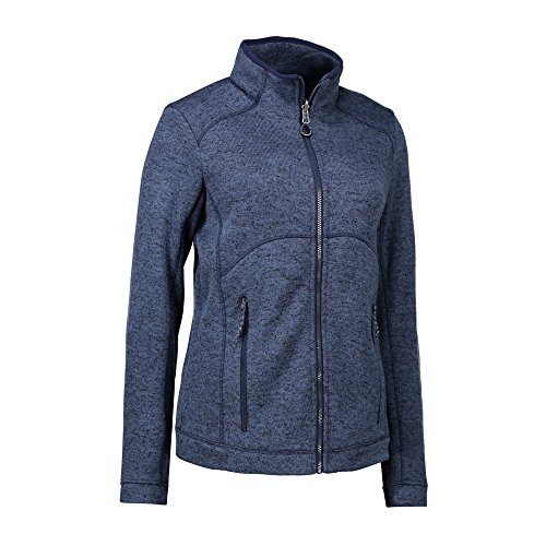 Azul De Con N Polar Jaspeado Marino Id Mix Modelo Zip Para Cremallera Chaqueta Tejido Mujer HOAZW