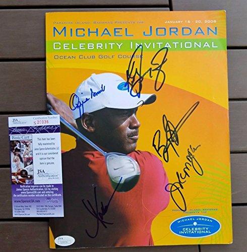 Michael Jordan Invitational Magazine Multi Signed Autograph Ken Griffey Jr More JSA Certified