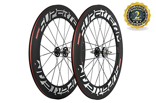 Superteam 88mm Carbon Clincher Fixed Gear Bike Wheelset 23mm Single Speed Wheel