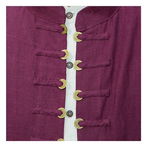 YINGYUE-Mens-MF-Extra-Long-Tang-Jacket-Hemp-Copper-Overshirt