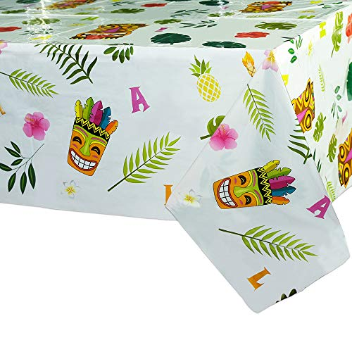 WERNNSAI Hawaiian Luau Table Covers - 2 PCS 71