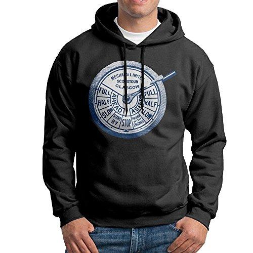 Lrg Cotton Vest (ROTATEL Mens Engine Order Telegraph Chadburn Cool Hoodie Sweater Size XXL Black)