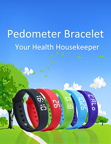 OKSPORT Smart Bracelet Watch Fitness Sports Activity Tracker Pedometers Long Standby Display Steps Distance Calories Burned Temperature Timer Health Sleep Monitor