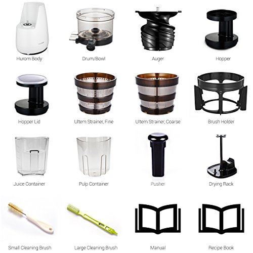 Hurom Slow Juicer Usa : USA free shipping HUROM HO Slow Juicer, White 11street Malaysia - Blender / Mixer / Juicer ...