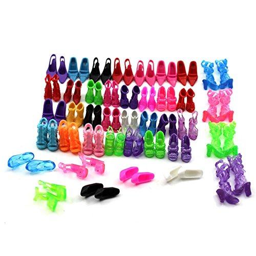 VANKER 40 pares de la muñeca de calza botas para niñas juegan decoración de la casa del partido de Navidad de regalo color al azar