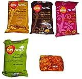 12 Packs Sweet Sugar Sugaring Wax Paste hair removal 100% Natural 600 GM Egypt Review