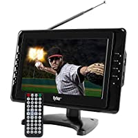 Tyler TTV703 10 Portable Widescreen LCD TV with Detachable Antennas, USB/SD Card Slot, Built in Digital Tuner, and AV Inputs