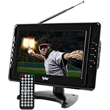 "Tyler TTV703 10"" Portable Widescreen LCD TV with Detachable Antennas, USB/SD Card Slot, Built in Digital Tuner, and AV Inputs"