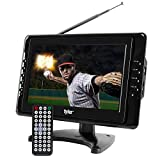Tyler TTV703 10'' Portable Widescreen LCD TV with Detachable Antennas, USB/SD Card Slot, Built in Digital Tuner, and AV Inputs