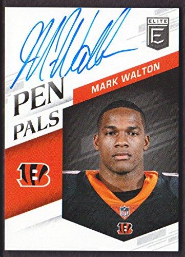 Cincinnati Pen Bengals (2018 Elite Football Pen Pals Blue Ink #PP-MW Mark Walton Auto Cincinnati Bengals)