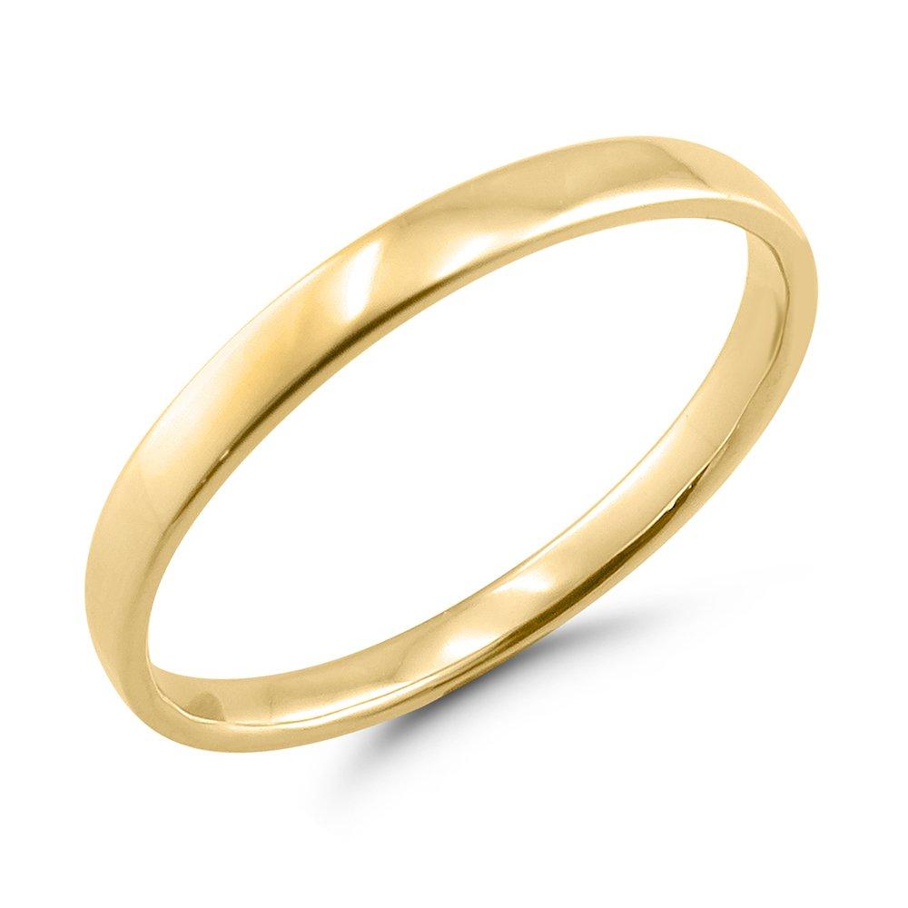 La Joya 2MM 10K Yellow Gold Women's Plain Band (7)