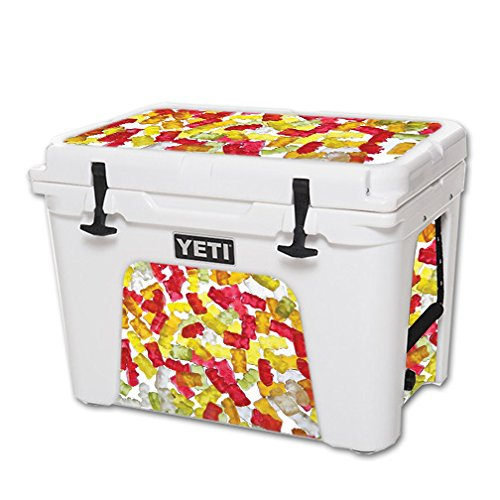 MightySkins Skin For YETI 50 qt Cooler – Gummy Bears | Protective, Durable, and Unique Vinyl Decal wrap cover | Easy To Apply, Remove, and Change Styles | Made in ()