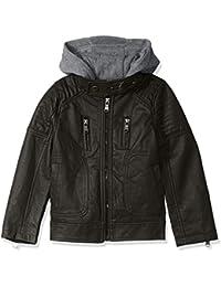 Urban Republic Boys' Faux Leather Jacket with Fleece...