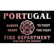 qy2472-r PORTUGAL Fire Dept Fireman Gift Home Decor Neon Light Sign