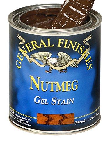 - General Finishes NH Oil Base Gel Stain, 1/2 Pint, Nutmeg, 1 Half