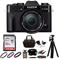 Fujifilm X-T20 Body with XC16-50mm Lens Kit (Black) w/Focus 32GB Gear Bag