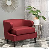 Cheap Nuage Red Fabric Accent Chair