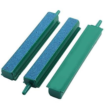 eDealMax 3pcs plástico recubierto Mineral peces de acuario tanque de burbujas de aire Piedra 5 mm