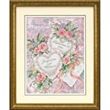 Dimensions Needlecrafts Stamped Cross Stitch, Two Hearts United Wedding Record