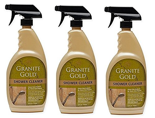 Granite Gold 24 oz. Shower Cleaner | Non-toxic and Non-acidic | 24 oz. Bottle (PACK OF 3) by Granite Gold