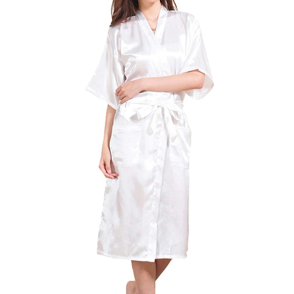 Yying Kimono Robe The Bride Damigella Onore Camicie da Notte Lunghe Wedding Makeup Morning Robes Satin Nightgown Wedding Bridesmaid Gift