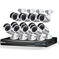 Swann NVR24-7095 3MP/3TB/12 x NHD-835 3MP Bullet IP Bullet expandable Surveillance DVR Kit, black (SONVK-2470912-US)