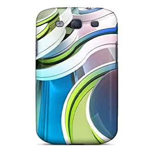 Hard Plastic Galaxy S3 Case Back Cover,hot Abstract Curve Case At Perfect Diy