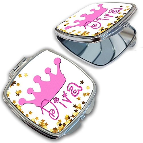 BleuReign(TM) Cute Pink Diva with Crown Compact ()
