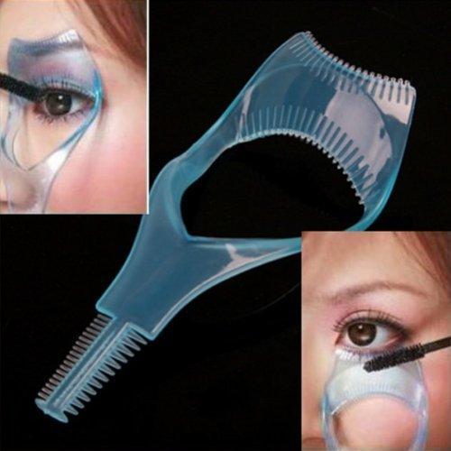 Jovana 3 in 1 Mascara Applicator Guide Tool Eyelash Comb Makeup Plastic Curler
