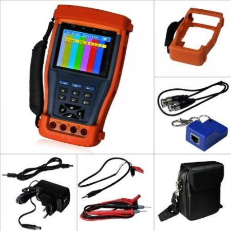 ElecsmartST893 3.5″ Inch LCD Monitor CCTV Camera Video PTZ RS485 UTP Tester Meter for On-site Installation and Maintenance of Video Monitoring