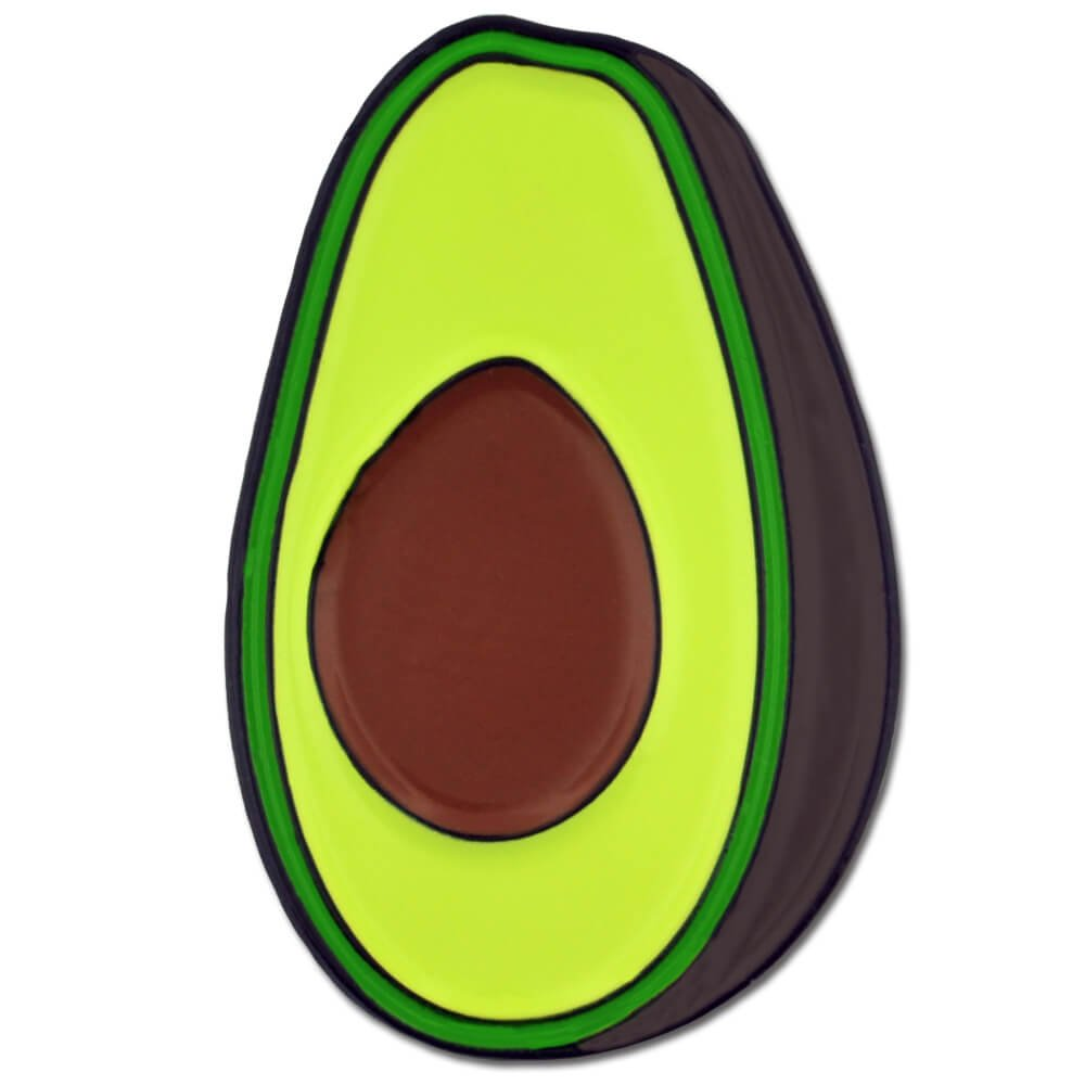 PinMart's Trendy Avocado Half Food Enamel Lapel Pin