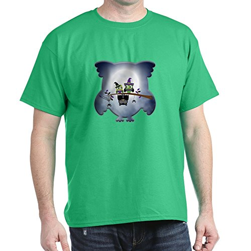 Truly Teague Dark T-Shirt Little Spooky Vampire Owl With Friends - Kelly Green, 3X -