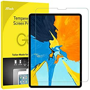 JETech Screen Protector for iPad Pro 11-Inch (2018 Release Edge to Edge Liquid Retina Display), Face ID Compatible, Tempered Glass Film