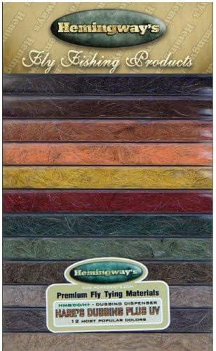 Hemingway Fliegenbinden Dubbing-Spender Hasenohren Plus UV Dub