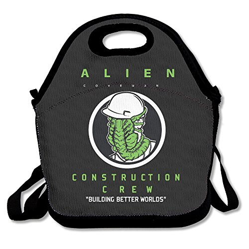 Alien Covenant Lunch Bag Travel Zipper Organizer Bag, Waterproof Outdoor Travel Picnic Lunch Box Bag Tote With Zipper And Adjustable Crossbody Strap