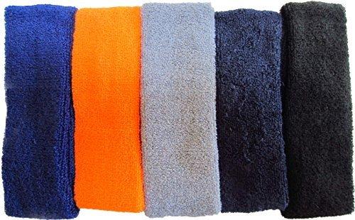 Sweat Headbands For Men-LeBeila Sweat Headband Cotton Headwrap For Basketball/Running/Sports activities, Mens Sweatband Stretchy Athletic Sweatbands 5PK – DiZiSports Store