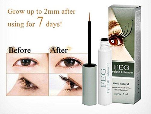 FEG Eyelash And Eyebrow Brow Enhancing & Lengthening Serum. 100% NATURAL & Highest Quality Ingredients Used. For Best Results Eye Lash and Eye Brow Enhancer And Long Thick EyeLashes and Eyebrow Hair G