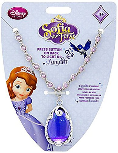 Disney Princess Sofia the First Amulet Necklace with Rhinestone-Accented Pendant (Sofia Amulet)