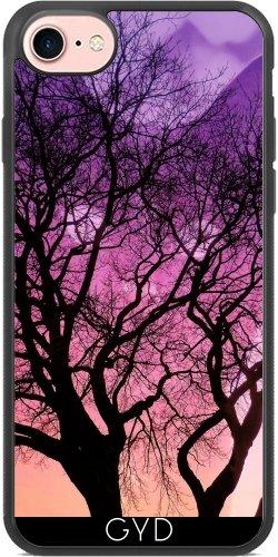 Coque Silicone pour Iphone 7 / Iphone 8 - Fantaisie Chat Derrière L'arbre by Djuranne
