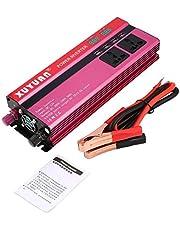 QiKun-Home Professionele 6000W zonne-energieomvormer DC 12V naar AC 220V LED-display auto sinusomvormer voor huishoudelijke apparaten rood