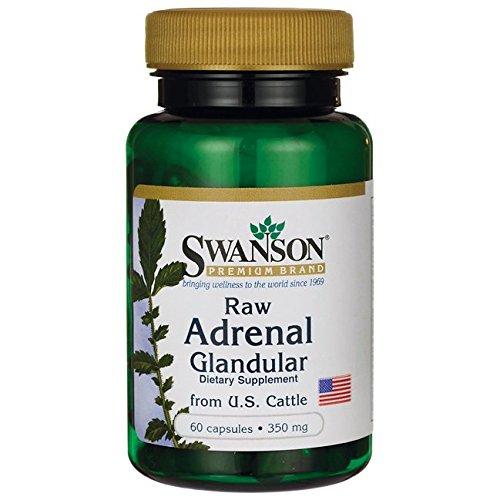 Swanson Adrenal Glandular 350 mg 60 Caps by Swanson