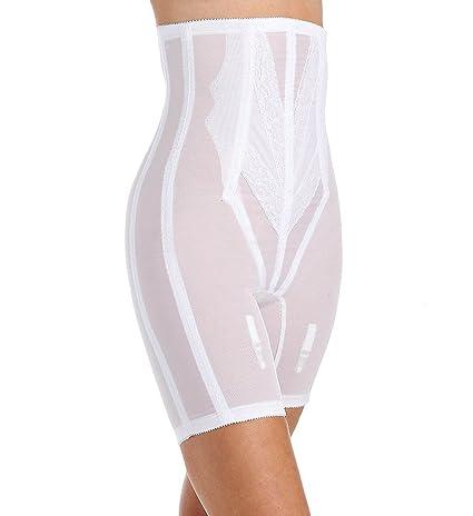 X Rago Womens Plus-Size Extra Firm Zippered High Waist Long Leg Shaper