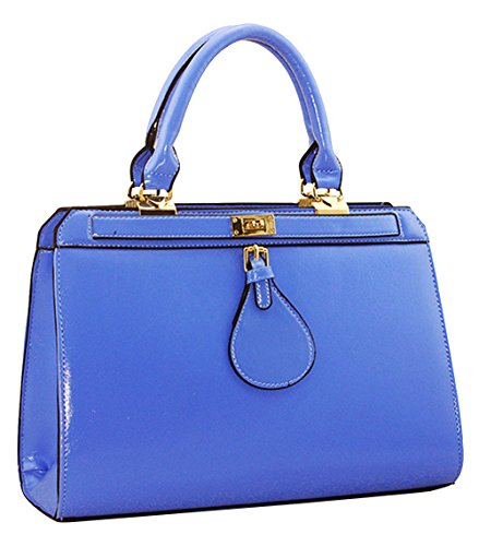 Ubasics Women's Zip Leather Container Blue One Size