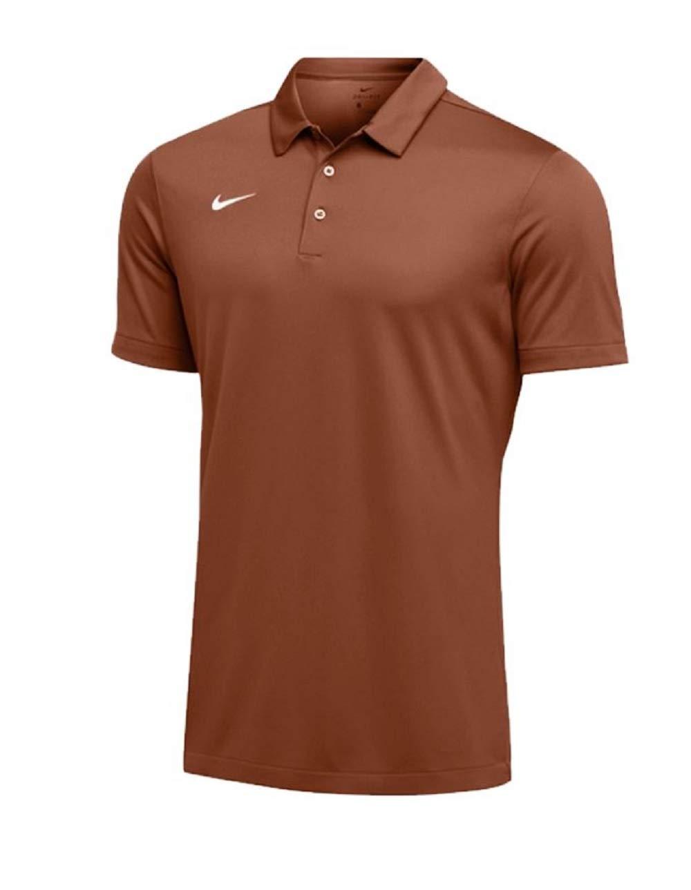 Nike Mens Dri-FIT Short Sleeve Polo Shirt (Medium, Desert Orange)