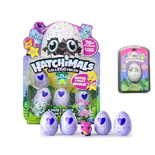Price comparison product image New! Hatchimals Colleggtibles - 4-Pack + Bonus AND Exclusive Hatchimals Lip Balm!!!